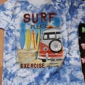 Крутая футболка Серфинг 122р 7лет кач во от Грейс новая в упак