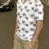 Мужская коттоновая футболка пр-во турция, размер 2xl.