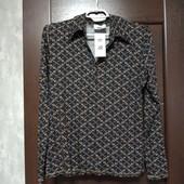 Фирменная новая трикотажная вискозная блуза р.М (12-16)