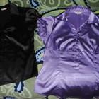 Две атласные блузки р. 46-48 в отличном состоянии.Одна на выбор