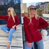 Свитер, бренд: Huadan, размер 48-50, цвет бордо