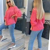 Свитер, бренд: Huadan, размер 48-50, цвет розовый