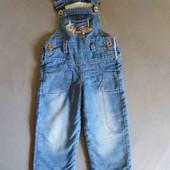 Теплющий джинсовый комбез Verdo на меху на 2-3 года в отличном состоянии