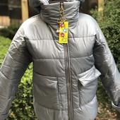 Утепленная деми курточка для девочки/мамы, р.158