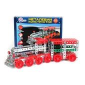 Конструктор металлический танк,поезд, самолет