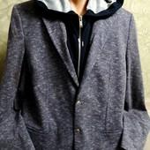 Собираем лоты!! Мужской пиджак с капюшоном, размер 44