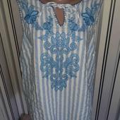 Блуза з вишивкою Tu,розмір20(пог60)