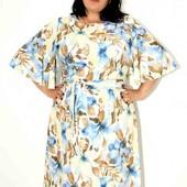 оочень красивое легкое платье большого размера батал 64 размер