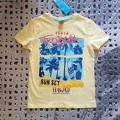 Классная фирменная футболка Hawaii от Рерсо! на 6-7 лет рост 122! замеры! хлопок