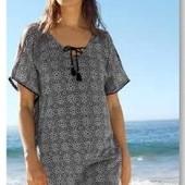 Легкая , стильная пляжная туника- парео оверсайз от Tchibo (германия) размер 48 евро=54-56