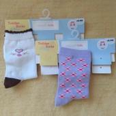 Wonder kids США носки носочки 2 пары девочке 2-3-4 г новые
