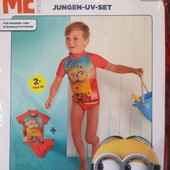 Детский купальник minion (миньоны) размер 74/80, 6-12 месяцев)
