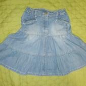 Джинсова спідниця р.134. Джинсовая юбка