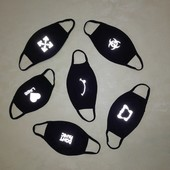 Защитные маски со светоотражающим принтом