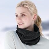 ☘ Теплый флисовый снуд- шарф-воротник с узором от Tchibo(Германия), размер универсальный