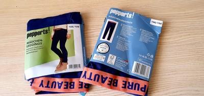 Котоновые леггинсы, бренд pepperts Германия.Тоненькие. темно синий цвет, 122/128