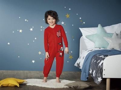 Пижама слип комбинезон домашний костюм Lupilu принт светится в темноте рост 86/92, 110/116см
