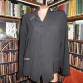Красивая черная блуза, крепшифон
