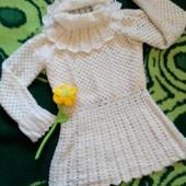Нарядный свитер с воротником стойкой-хомутом