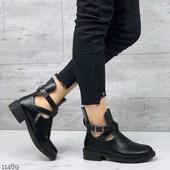 демисезонные ботинки,эко кожа, отличное качество!!! удобный каблук.