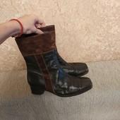 Ботинки сапоги демисезонные натуральная кожа