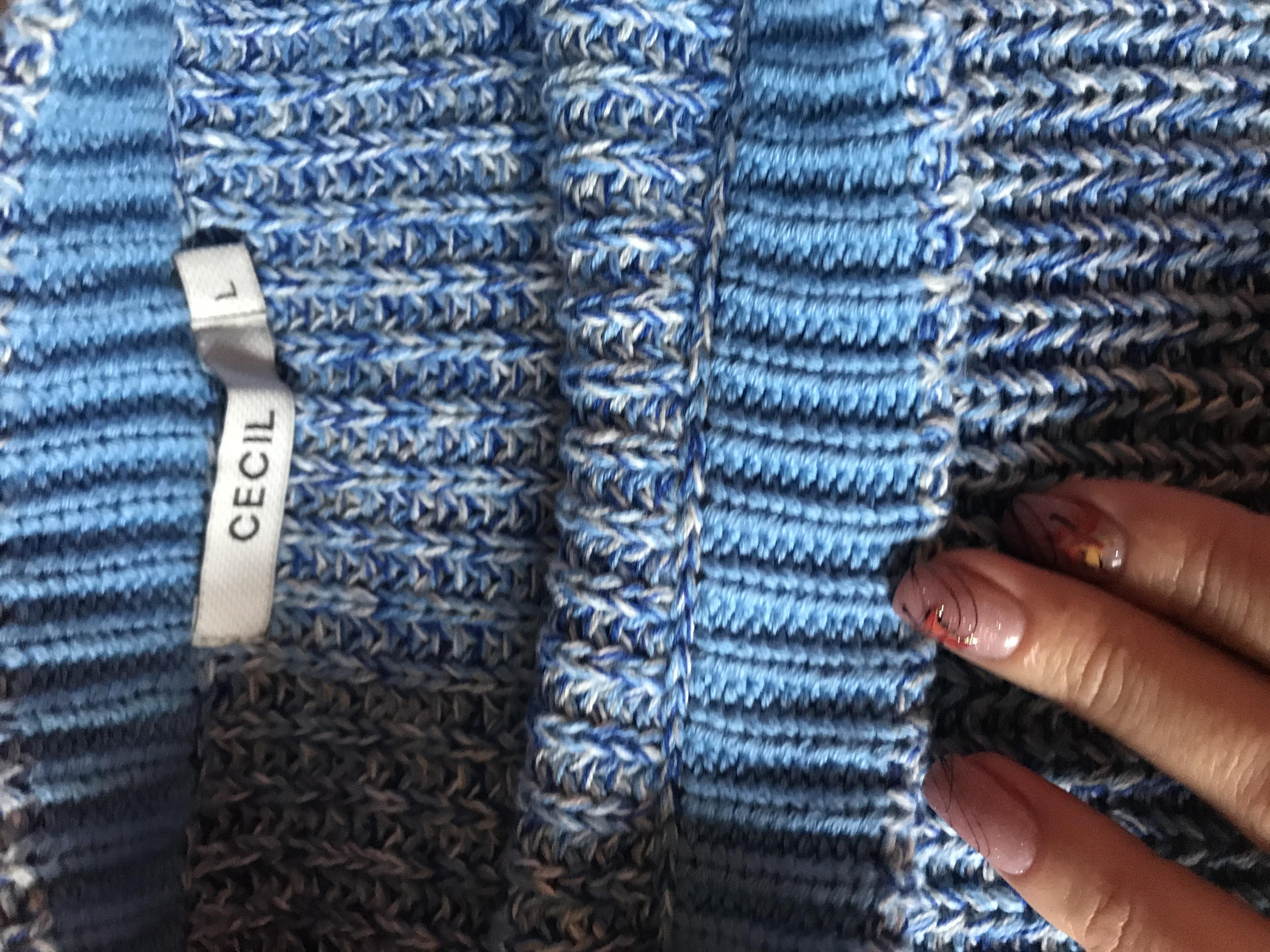 Котоновий светр вільного крою