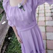 Дуже класне нарядне фіолетове плаття