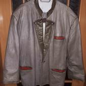 Не пропустіть! Шкіряна куртка- піджак для справжнього мужчини,  розмір 52/54!