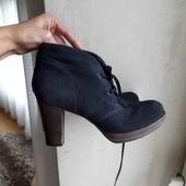 утеплені замшеві ботинки на ширшу стопу