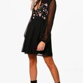 Платье шифон с вышивкой