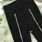 Шикарные брюки-джинсы с замками. с-м