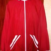 Курточка ярко красного цвета)