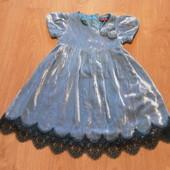 Нарядное бархатное платье Baker Girl состояние отличное
