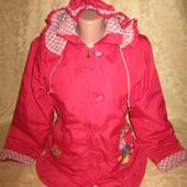 Красивая,яркая куртка на кашемировой подкладке,состояние хорошее для дома,р.21,смотрите замеры!