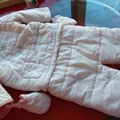 Vertbaudet комбинезон трансформер куртка мешок конверт девочке 9-12-18 м отличное состояние