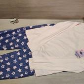 Германия!!! Красивая, уютная пижама для девочки! Флисовые штаны! 146/152!