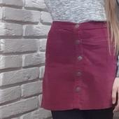 Шикарная велюровая брендовая юбка Denim Co (р.140-152)