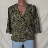 Красивая фирменная блузочка на запах,в новом состоянии! XL/2xl