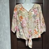 Фирменная коттоновая блуза в отличном состоянии р.16-18
