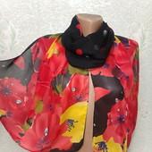 Шикарный нарядный яркий легенький шарф палантин 155/47 Новый Акция читайте