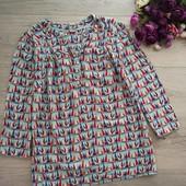 Женская блузка с оригинальным принтом рр S,M. Хорошее состояние