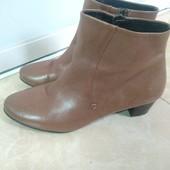 Кожаные ботиночки размер 37, 38, состояние новых