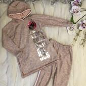 Шикарні теплі трикотажні костюми для ваших модняшок.Останні розміри.