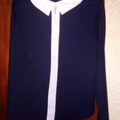 Блуза тёмно синего цвета) в хорошо состоянии)