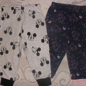 Новые! Пижамные штанишки 6-9мес р.74, сток Англия, качество супер! в лоте 2шт