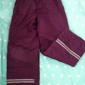 Зимние шуршащие штаны на синтепоне O'stin на 5-6 лет, 116 р. Нюанс