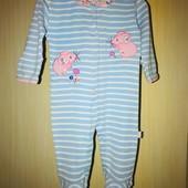 Хлопковый яркий слип на возраст 3-6 месяцев