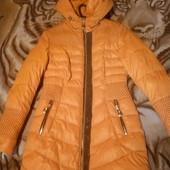 Яркое теплое пальто