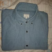 Котононовая рубашка под джинс, в идеальном состоянии