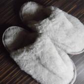 Меховые тапочки, натуральная овчина, очень теплые.
